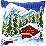Vervaco PN-0146240 VER - Cojín de punto de cruz diseño de paisaje de invierno