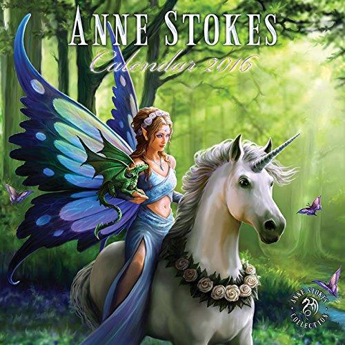 Anne Stokes 2016 Square Calendar -