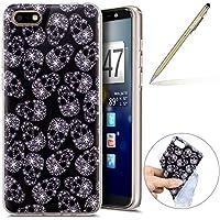 Handy Tasche für Huawei Y5 2018 Silikon Hülle Durchsichtige Schutzhülle Crystal Clear Transparent Ultra Dünn Handyhülle Silikonhülle Kristall Klar TPU Bumper,Schädel