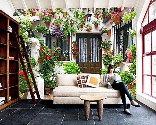 Qinmon 3D Wandbild Tapete Dekoration Wandtattoo Kundenspezifischer Privater Garten-Haus...