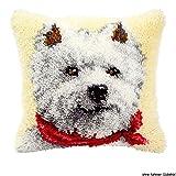 Vervaco PN-0014148 Knüpfkissen 3560 Westhighland Terrier