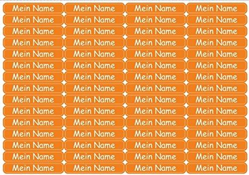 60 Pequeñas Etiquetas Para Nombre Etiquetas de nombre con ICON Para Lapices Tijeras Regla Etiquetas Escolares APTO PARA LAVAVAJILLAS idóneo para Microondas con nombre - Azul Estrella