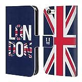Head Case Designs Typographie De Drapeau Londres La Mieux Étui Coque De Livre en Cuir pour iPhone 5c