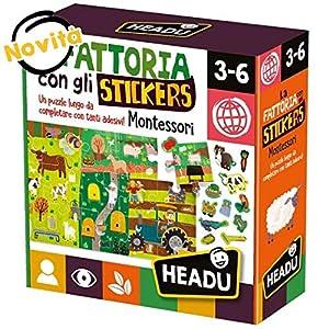 Headu La Granja con los Adhesivos (Montessori) (48 Unidades) 3-6 años