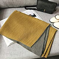 Doble cara de dos colores de cachemira bufanda de doble uso , E