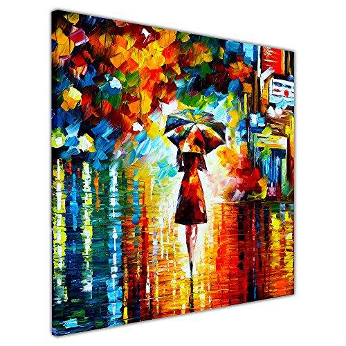 """CANVAS IT UP New Regen Princess von Leonid Afremov auf Rahmen Leinwand Bilder Wand Art Prints Ölgemälde Nachdruck, canvas, 04-30"""" X 30"""" (76CM X 76CM)"""