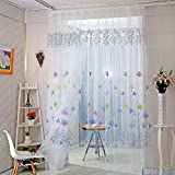 Home Decor Drapes Sheer Window Curtains For Living Room Bedroom Kitchen Modern Tulle Curtains Sun Floral Fabric Blinds (Style 2)
