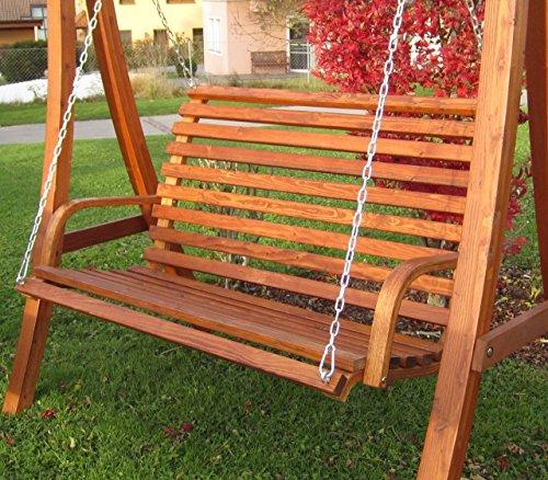Design Bank aus Holz Lärche für Hollywoodschaukel 2-Sitzer KUREDO (ohne GESTELL!!!) von AS-S - 4