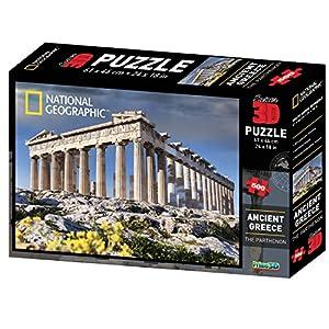 National Geographic ng10055Super Antigua Grecia/El Partenón 3D Puzzle (500Unidades)