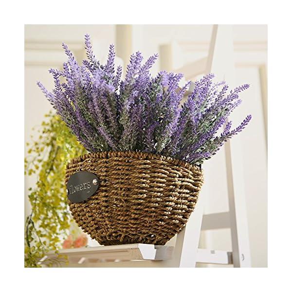 Flores artificiales de lavanda Luyue, para decoraciones de casa y boda. Púrpura, 8manojos