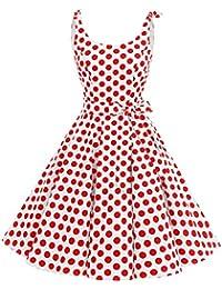 bbonlinedress 1950er Vintage Polka Dots Pinup Retro Rockabilly Kleid Cocktailkleider
