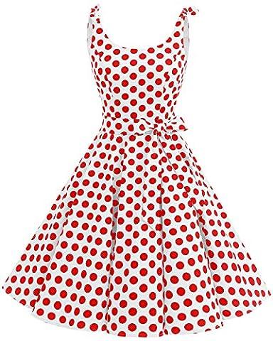 Robe Guinguette - Bbonlinedress Vintage rétro 1950's Audrey Hepburn robe