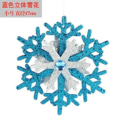 Reyqing Weihnachtsschmuck, Weihnachten Baumschmuck Zubehör, Trompete Blau (17 Cm)