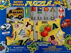 Puzzle Car Set Battery Operated School Bus