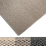 Moderner Teppich in Premium Sisal Optik | ausgezeichnet mit GUT Siegel | pflegeleichtes Flachgewebe | viele Größen (taupe, 160x160 cm)