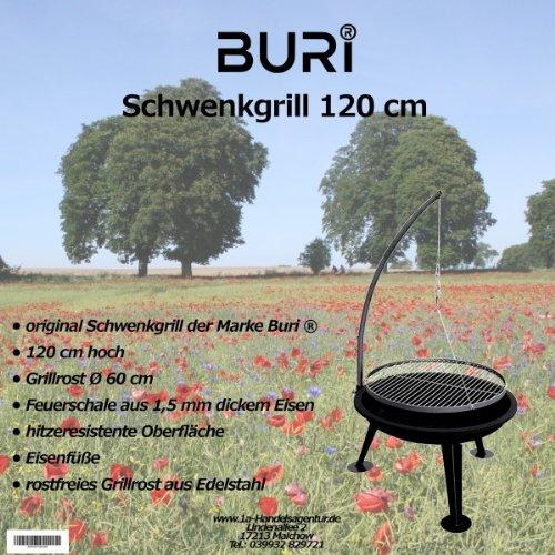feuerschale 150 cm Buri Schwenkgrill 120cm der Marke
