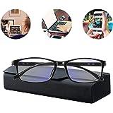 Occhiali Filtro,Occhiali da Computer,Anti Bagliore,Anti Affaticamento degli Che Bloccano La Luce Occhiali da Gioco Donna Uomo Occhiali da Vista Blu