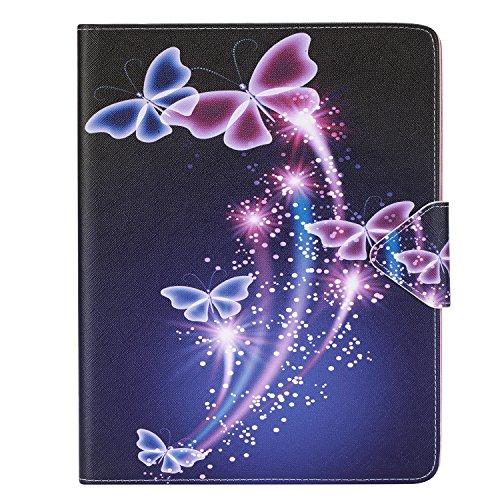 Preisvergleich Produktbild iPad 2 Hülle,iPad 3 Hülle,iPad 4 Hülle, Cozy Hut iPad 2/3/4 Case Schutzhülle Hochwertiges PU Leder Ultra Schlank Superleicht Ständer Smart Shell Cover Schutzhülle Etui Tasche für iPad 2/3/4 Tablet-PC - Schmetterling