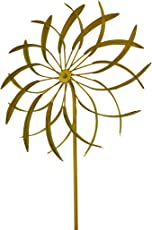 Blossoming Illusions 18 in. Flower Wind Spinner Metal Garden Stake Sculpture