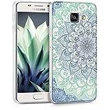 kwmobile Crystal Case Hülle für > Samsung Galaxy A3 (Version 2016) < - TPU Silikon Cover im Blume Ornament Design