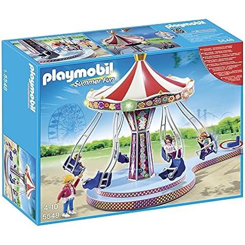 Playmobil Parque de Atracciones - Carrusel con columpios voladores, playset (5548)