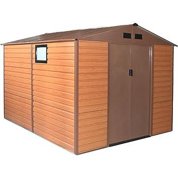 Box Casetta casa giardino doppio spessore lamiera 277x309xh218cm FOREST XL-PLUS