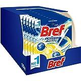 Bref WC Power Activ Lemon, Detergente WC, Pulizia e Freschezza - Formato Scorta 10 Pezzi