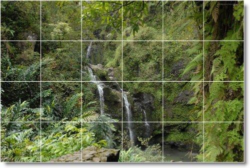 FOTOS DE CASCADAS COCINA TILE MURAL W025  32X 48CM CON (24) 8X 8AZULEJOS DE CERAMICA