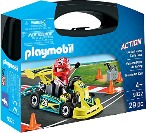 Playmobil- Maletín Go Kart Juguete