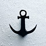#4: Casa Decor Nautical Ship Anchor Door Knocker Door Knocker Classic Jet Black Door Knocker - Door Decor