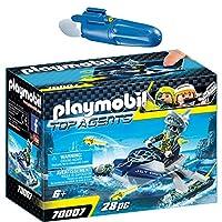 Playmobil Top Agents 2 pcs. Set 70007 7350 TEAM S.H.A.R.K. Rocket Rafter + Underwater Motor
