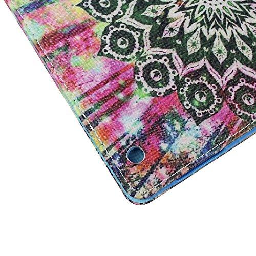 Tasche mit auto Sleep / Wake für iPad 4, iPad 2 Hülle Leder, iPad 3 Bumper Hülle, Moon mood® mit Auto Wakeup / Untätigkeit Funktion Ledertasche für Apple iPad 2/3/4 (9.7 Zoll) , PU Leder Cover Hülle F 1 Totem B