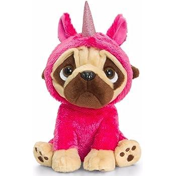 cbfc8e4ce49 Keel Toys Large Pugsley 20cm Pug Dog in Unicorn Costume Cuddly Soft Toy  Teddy Plush (