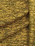 Slantastoffe Strickstoff Strickfleece Stoff Fleece meliert 3 Farben (Senfgelb meliert, 150cm)