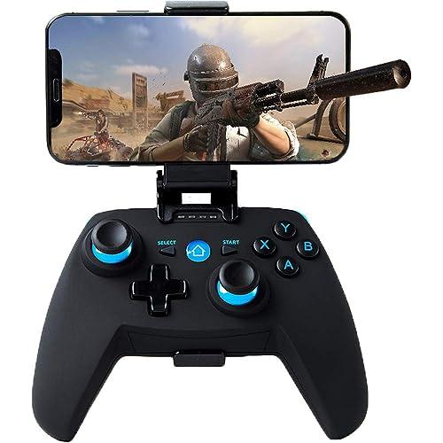 Controller per Android/PC/PS3/TV Wireless , Maegoo Bluetooth Android Mobile Controller con Staffa Retrattile, 2.4G Wireless PC/PS3/TV Joystick Controller Gamepad con Doppia Vibrazione