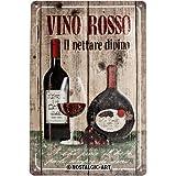 Nostalgic-Art 22120 Open Bar - Vino Rosso, Blechschild 20x30 cm