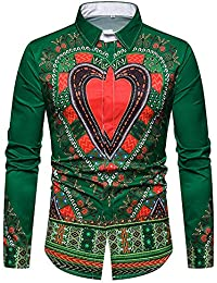 1c38d03bf29 Discount Promotions Men Autumn New fashion Casual Daily tops Dashiki Autumn  Luxury African Print Long Sleeve