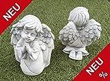 Süßer kleiner Engel Grabengel Grabschmuck Steinguss Steinfigur Schutzengel + Original Pflegeanleitung von Steinfigurenwelt Giessen