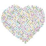 Buchstabe Perlen, Borte Rosenblätter aus 6* 6bunt gemischte Perlen Buchstabe Perlen gemischt für Schmuckherstellung 'A-Z' Cube Perlen für Armbänder, Ketten, Schlüssel Ketten und Kid Schmuck