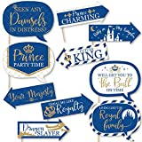 Funny Royal Prince Charmant – Baby Shower ou fête d'anniversaire Photo Booth Props kit – 10 pièces