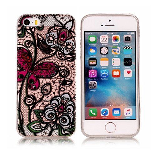 iPhone 5S Custodia,iPhone iPhone 5 / SE copertura, piuttosto gufo Patate Custodia in TPU Gel Ultra sottile [Trasparente] Custodia protettiva in gomma flessibile case cover para for iPhone 5 / SE /5S colour . 2