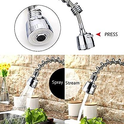 Hapilife moderno grifo de la cocina Pull Out Spray grifo mezclador monomando para fregadero caño giratorio sola palanca