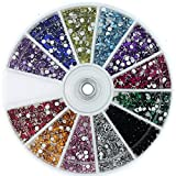 Nail Art Rhinestone Pack 1200 Premium Quality Gemstones - Rhinestone Deco With Wheel