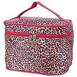 LMRYJQ Kulturbeutel Unisex Kulturtasche zum Aufhängen Herren & Damen | Kosmetiktasche groß Männer Frauen für Koffer & Handgepäck | Kosmetiktasche mit großer Kapazität (Hot Pink)