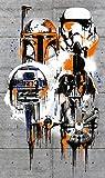 Komar - Star Wars - Vlies Fototapete THE GALAXY - 120 x 200 cm - Tapete, Wand Dekoration, Graffit, Kampf, Space - VD-022