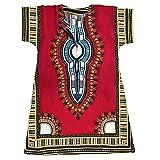 Homes & Deco Kleidung Dashiki afrikanischen Traditionelle Mexikanische Shirt Kaftan für Herren Ladies Shocking Pink