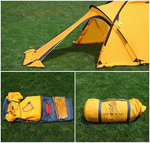 GEERTOP 20D 2-Person 4-Jahreszeiten Super Leicht Alpine Camping-Zelt - 6