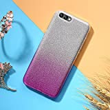 EINFFHO Coque Oneplus 5, 2 in 1 Design créatif Luxe Gradient Glitter Brillant...