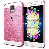 delightable24 Schutzhülle Sparkle Design Case SAMSUNG GALAXY S5 / S5 NEO Smartphone - Pink