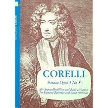 Sonata in a-moll op. 5 no. 8 - Descant Recorder and Piano - Book